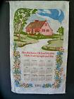 Vintage Linen Kitchen Wall Hanging 1983 Birthday Cottage Calendar Prayer Lord