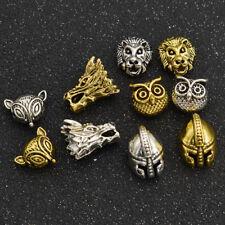 10pcs Fashion Alloy Gold Silver Animal Pattern Beads Dragon DIY Jewelry Making