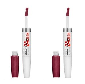 2 ,TWO Maybelline Superstay 24hr Liquid lipstick Color, 050 Unlimited Raisin