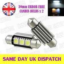 39 millimetri 3 SMD 239 NESSUN ERRORE LAMPADINE CANBUS XENON BIANCO X 2