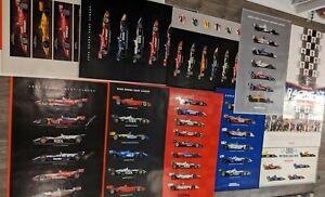 14 Vintage IndyCar POSTERS! Honda racing autographed RARE! Huge lot Dixon Sato