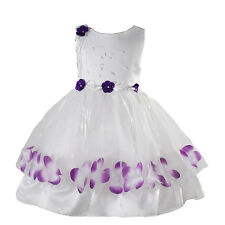 New Flower Girl Party Bridesmaid Wedding Pageant Dress 9-12 Months to 6-7 Years