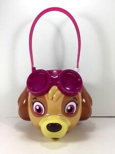 Nickelodeon Paw Patrol SKYE Christmas Candy GIFT BASKET Toy Storage Bin Bucket