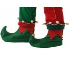 Green & Red Elf Shoes Covers Real Jingle Bells Sound Gnome Pixie Santa's Helper