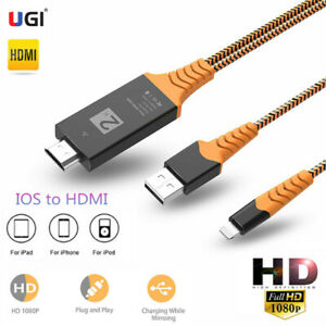 2m IOS to HDMI Digital TV AV Adapter Cable For iPod iPhone 11 X 8 7 6 Plus XS XR