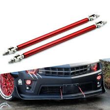 Universal Adjustable Front Bumper Lip Splitter Strut Rod Tie Support Bar Spoiler Fits More Than One Vehicle