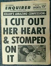 MEGA Rare NATIONAL ENQUIRER 1963 I CUT OUT HER HEART & STOMPED ON IT - McCaskie