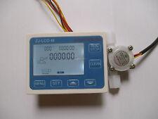 "NEW G1/4"" Water Flow Control LCD Meter + Flow Sensor"