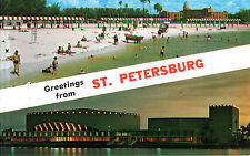 USA - Florida  -  St.Petersburg - Spa Beach - seen in the background Vinoy Hotel