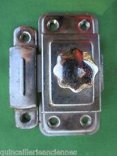 Targette gâche métal chromé verrou E.R Paris occasion 8,5 x 4,2 cm porte