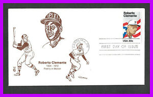 ROBERTO CLEMENTE: 1984 Cover Craft Cachet (CCC) first day cover, Carolina, PR