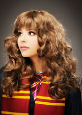 Hermione Granger Style Brown Curly Wig with Fringe