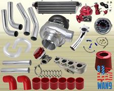 Honda Prelude Vtec H22A T3/T4 Turbocharger Turbo Kit Red+Manifold+Bov+Wg+Gauge