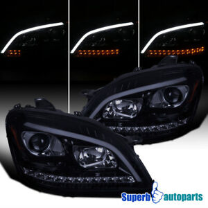 For 2006-2008 Benz ML350 Smoke Projector Headlights Sequential LED Signal