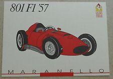 Ferrari Galleria 1991 801 f1 1957 CARD carte brochure prospectus Book Livre Press