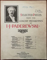 Selected Pieces from the Concert Programmes of I. J. Paderewski – Early 1900's