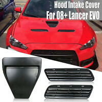 Primer Hood Air Scoop Intake Duct Vent For Mitsubishi Lancer GTS 10 X GSR 08-15
