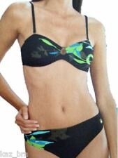 New Naturana Black Bikini UK 10 for C Cups Multiway Strapless Bandeau Style