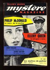 MYSTERE-MAGAZINE n°158 P. McDONALD  James HILTON  John COLLIER mars 1961 OPTA