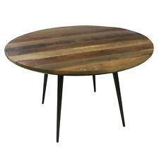 More details for scandi style industrial vintage dining table, distressed wood metal, restaurant