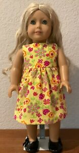 Yellow Floral Dress for 18 Inch American Girl Doll FREE SHIPPING!!