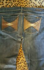 CITIZENS OF HUMANITY Jeans w/suede & Leather Patch Pockets. Sz.30