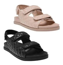 Ladies Kangol Footwear Classic Retro Casual Quilt Sandal Sizes from 3 to 8
