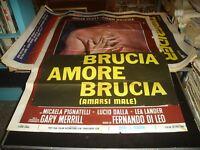 Verbrennungen Liebe Verbrennungen Poster 2F Original 1972 Lucio Dalla f. Leo