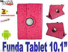 "FUNDA GIRATORIA PARA TABLET ELEMENTS TERRA 10 QC 10.1"" AJUSTABLE DIBUJOS FUCSIA"