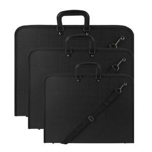 A1 A2 A3 PORTFOLIO WATER DESIGN PROOF BLACK CASE ART WORK PAINTING FOLDER BAG UK
