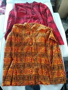 Lot of 2 Kids XL Traditional African Clothing Print Dashiki Shirts Boys Girls