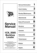 JCB 1CX 208S Backhoe Loader Service Manual (B70)