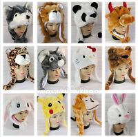 Cartoon Animal Hat Fluffy Plush Cap Unisex Perfect Gift for Him or Her Hot gifts