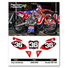 2008 - 2009 HONDA CRF 250 Dirt Bike Graphics Motocross Custom Number Plates TLD