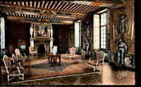 Cheverny France CPA ~1950/60 La salle des Gardes Saal im Inneren des Schlosses