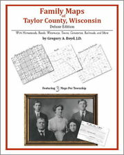 Family Maps Taylor County Wisconsin Genealogy WI Plat