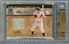 ROGER MARIS 2004 DONRUSS ELITE EXTRA EDITION THROWBACK THREADS #1 BGS 9.5