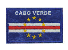 Cabo Cape Verde National Flag Patch Emblem Embroidered Sew Iron Badge Applique