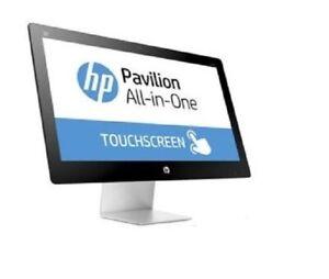 """HP PAVILION  23-q107a AIO A6-7310 8GB 1TB DVDRW WIFI WEBCAM W10 23"""" FHD TOUCH"""