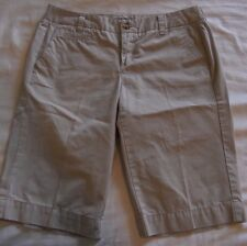 Womens Tommy Hilfiger Khaki Shorts Size 4 100% cotton