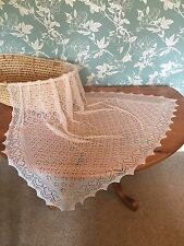Stunning 100% pure cashmere baby shawl / blanket.  col. White