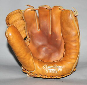 Antique Vintage 1950's Rawlings model G800X baseball glove with silver