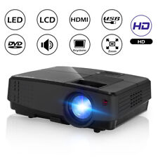 CAIWEI HD Portable 4000lms LCD Home Theater Video Projector 1080p Movie HDMI USB