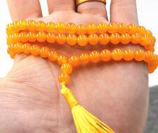 Natural Buddhist 108 Brazil Topaz gemstone Prayer Beads Mala Necklace bracelet