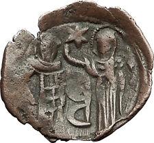 Andronicus Ii Palaeologus Virgin Mary Saint Demetrius Rare Byzantine Coin i59401