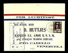 CURACAO 1930 SPEC FLIGHT CV REG... TO   Pto. CABELLO VENEZUELA   SPEC PM.. F/ VF