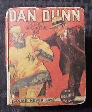1934 DAN DUNN Crime Never Pays Whitman #1116 Big Little Book GD-