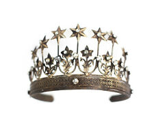 Gold Tiara, crown photography prop, vintage crown, star crown with rhinestones