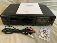 —Fresh Belts— Sony Tc-We425 Cassette Deck Dolby B&C Noise Control Working Great!