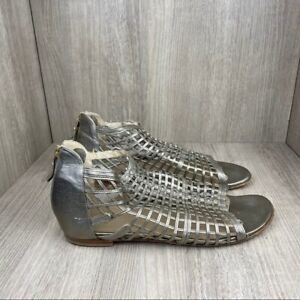 Stuart Weitzman Women's Peep Toe Metallic Sandals